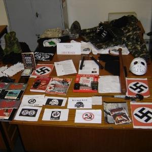 Нацистская экипировка и материалы, изъятые в Сан-Паулу