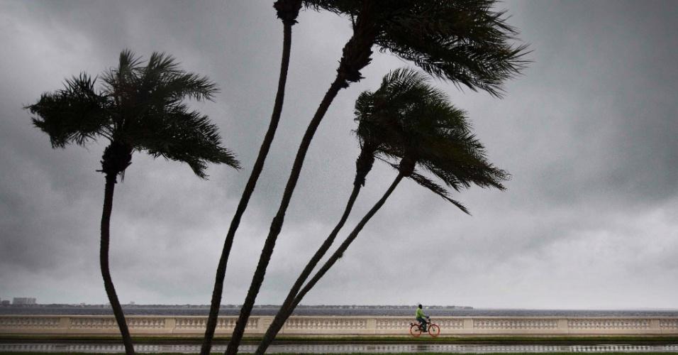 10.set.2017 - Furacão Irma atinge a cidade de Tampa, na Flórida, região que não era atingida por furacões desde 1921