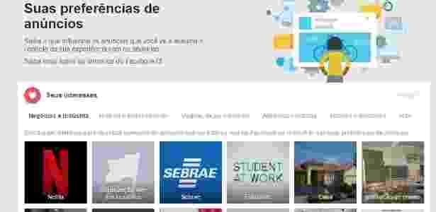 Facebook Anúncios - Reprodução/Facebook - Reprodução/Facebook
