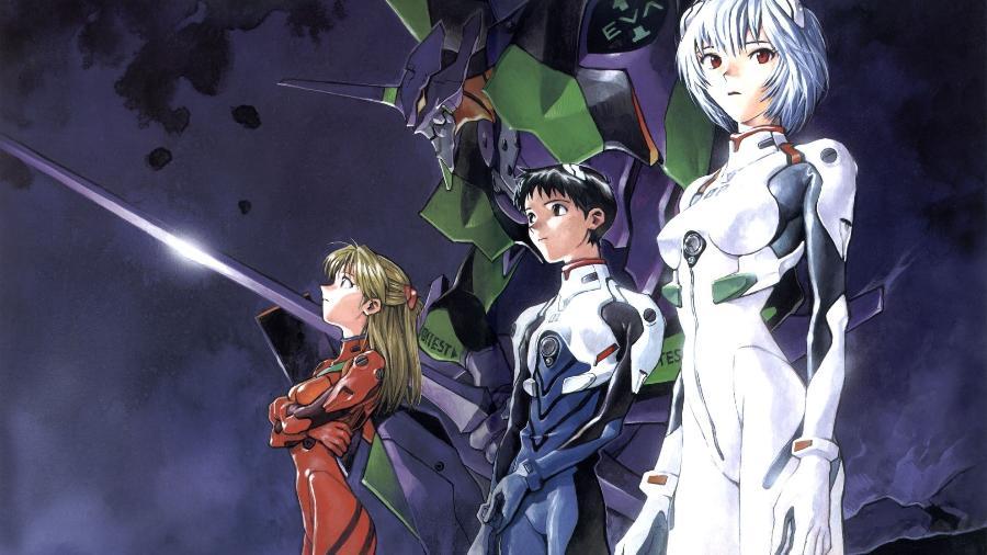 """Cena do anime """"Neon Genesis Evangelion"""" - Divulgação"""