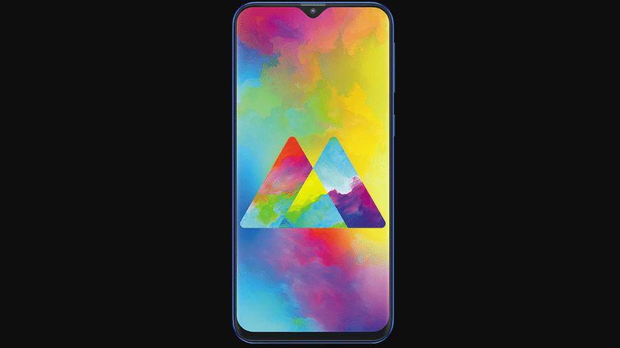 Galaxy M20, um dos primeiros smartphones da Samsung com entalhe na tela - Divulgação/Samsung