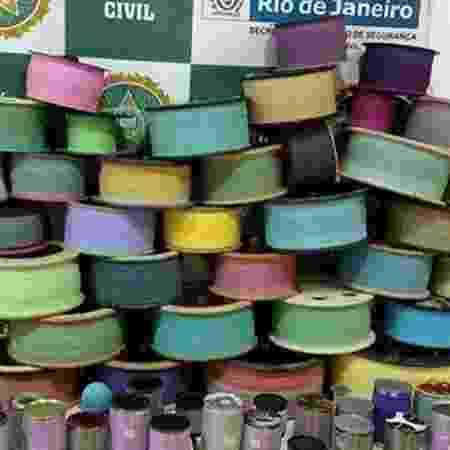 Linha chilena é usada normalmente em pipas - Divulgação/Polícia Civil do Rio de Janeiro