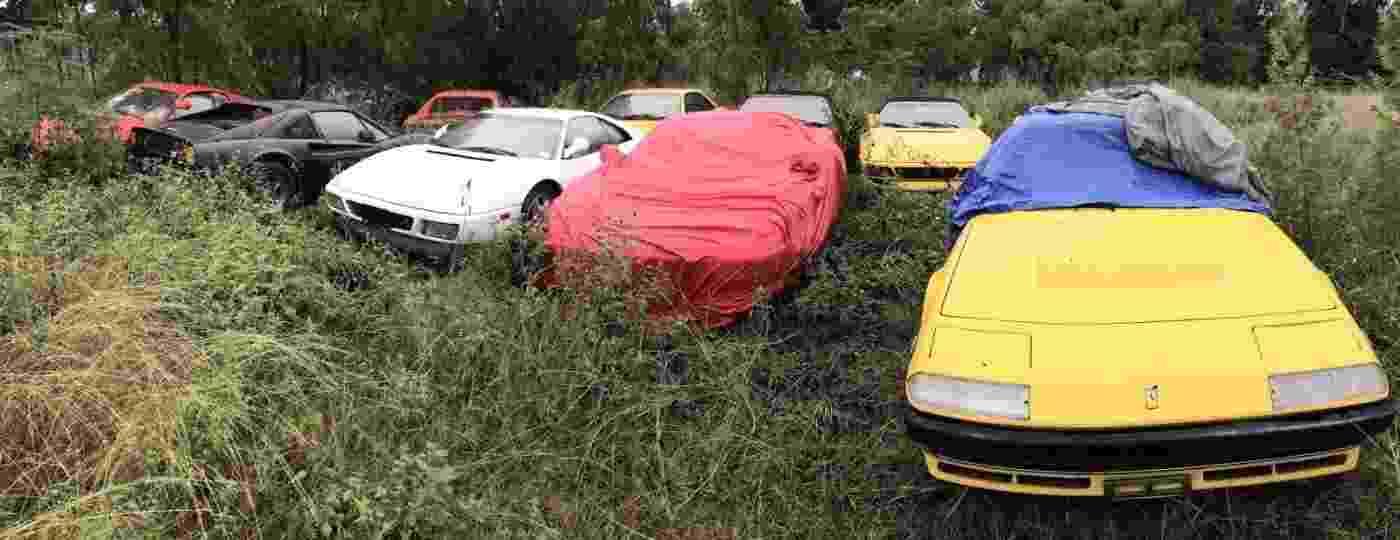 Ao menos 11 Ferraris foram encontradas no terreno baldio - Reprodução/Silodrome