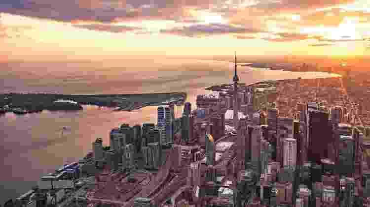 Imagem aérea de Toronto, na província de Ontário, onde vive a maior parte dos brasileiros no país - Reprodução/ The City of Toronto/ Flickr
