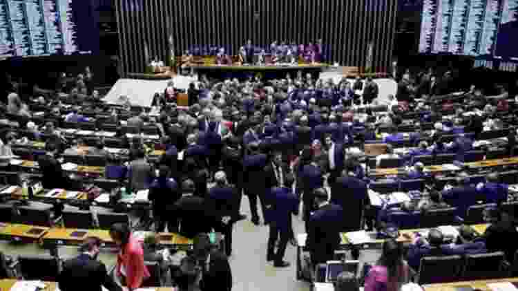 Na votação de quarta-feira, 379 deputados votaram a favor da Reforma da Previdência, outros 131 se posicionaram contra - Câmara dos Deputados/BBC