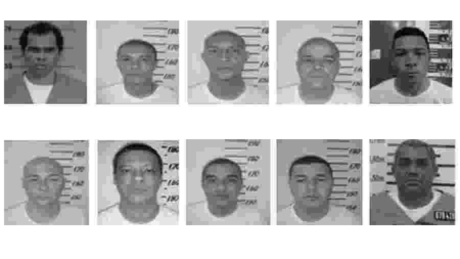 Integrantes do PCC transferidos para a penitenciária federal de Porto Velho em 19 de dezembro de 2019 - Reprodução