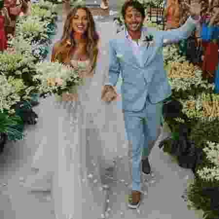 O casamento de Marcella Minelli, irmã da blogueira fitness Gabriela Pugliesi, com Marcelo Bezerra, na Bahia - Reprodução