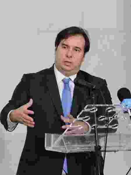 O presidente da Câmara dos Deputados, Rodrigo Maia (DEM-RJ), em entrevista coletiva sobre o coronavírus - Michel Jesus/Câmara dos Deputados