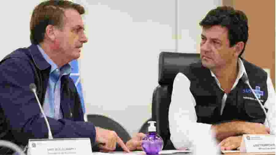 Bolsonaro tem contrariado orientações do Ministério da Saúde, comandado por Luiz Henrique Mandetta - Foto: Isac Nóbrega/PR