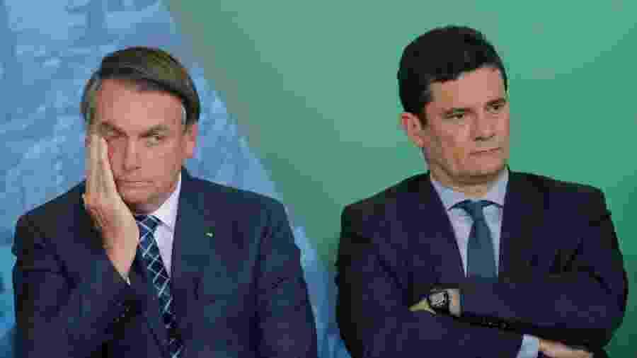 Presidente Jair Bolsonaro e ex-ministro da Justiça Sergio Moro - ADRIANO MACHADO