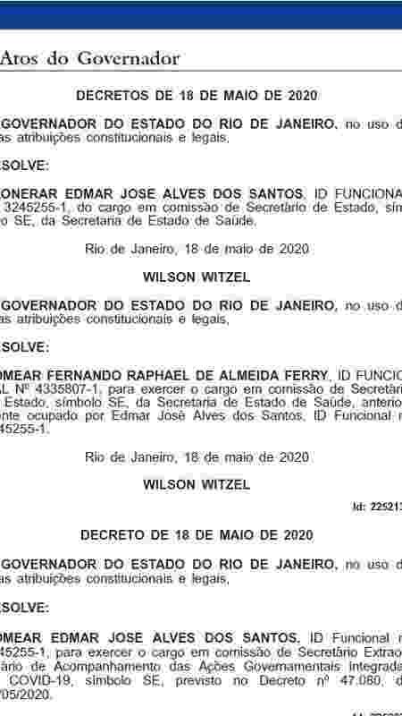Nomeação de Edmar Santos no Rio - Reprodução - Reprodução