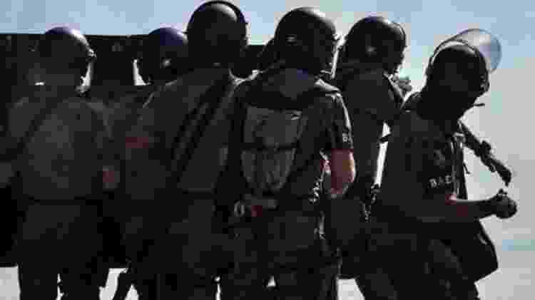 Policiais reagindo a manifestação em São Paulo no último dia 31 - NELSON ALMEIDA/AFP VIA GETTY IMAGES - NELSON ALMEIDA/AFP VIA GETTY IMAGES