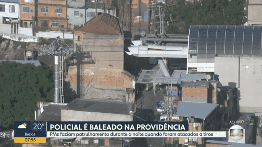 Policiamento na região do Morro da Providência foi intensificado hoje pela manhã - Reprodução/TV Globo