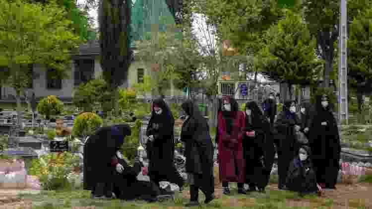 O Irã mais uma vez quebrou seu recorde de mortes por covid-19 no mesmo dia - Getty Images - Getty Images