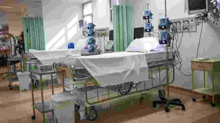 Leitos de UTI no Hospital Mário Covas em Santo André - Divulgação/Governo de São Paulo