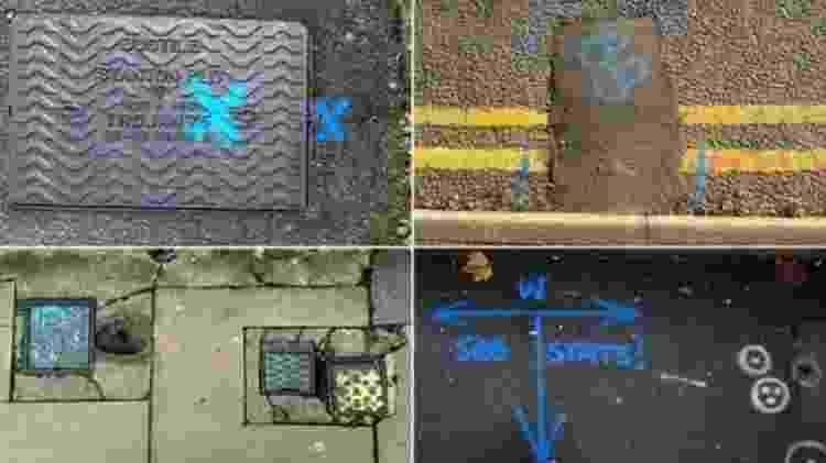 O azul geralmente é usado para identificar canos de água potável - BBC News Brasil - BBC News Brasil