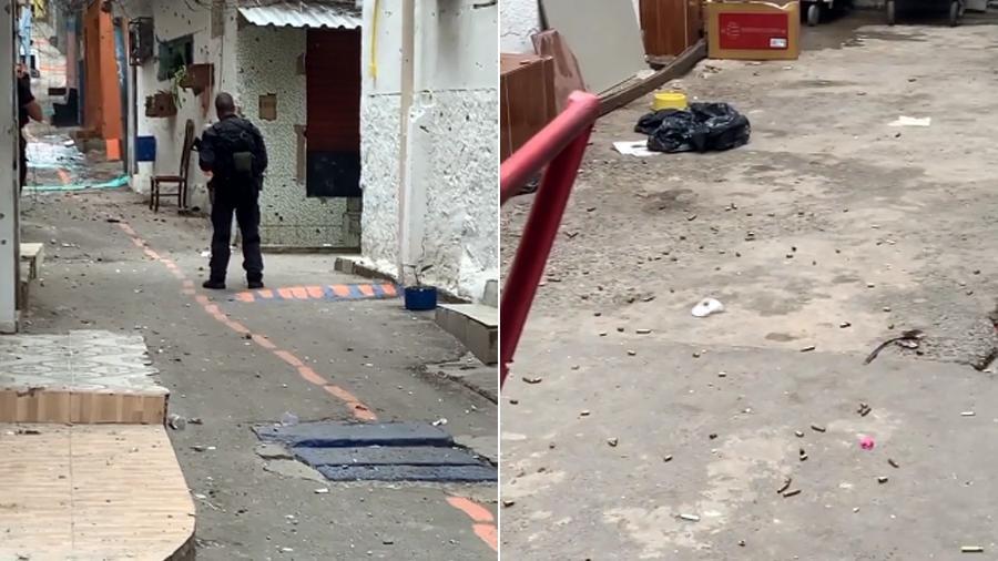 Local de confronto entre policiais e suspeitos na operação que deixou 28 mortos no Jacarezinho, na zona norte do Rio de Janeiro - Reprodução/Instagram