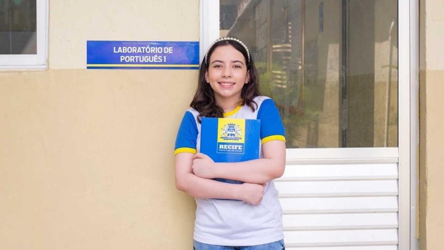 Isadora Vasconcelos, de 12 anos, venceu uma das categorias, em disputa com mais 14 mil jovens - Camila Adriano/Divulgação