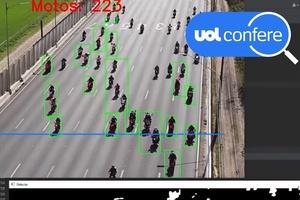 Vídeo de 'motociata' traz boa estimativa, diz professor; entenda contagem (Foto: Reprodução/Canal Análise de Vídeos)