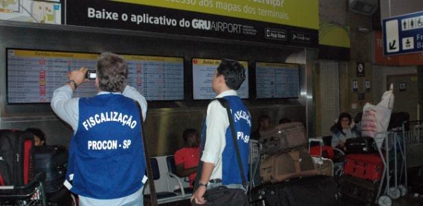 Fiscalização do Procon-SP incluiu o aeroporto de Guarulhos