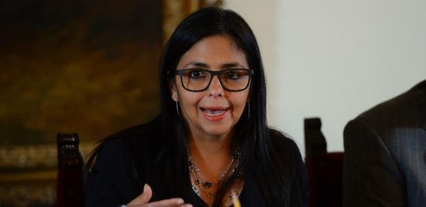 A chanceler venezuelana, Delcy Rodriguez