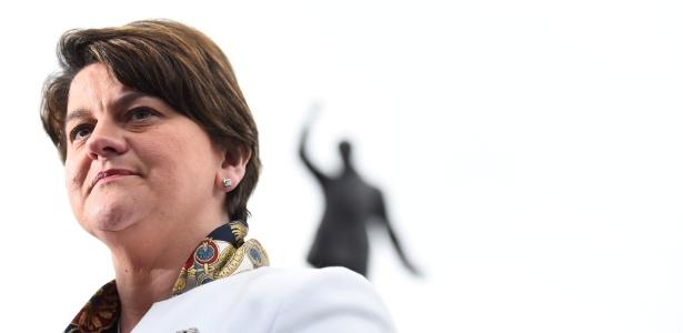 A líder do Partido Democrático Unionista (DUP), Arlene Foster