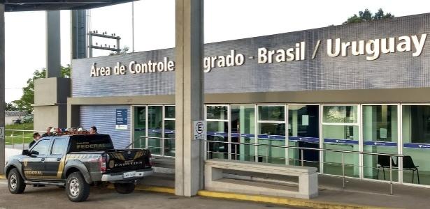 Posto da PF em Aceguá, na fronteira do Brasil com o Uruguai, fecha de madrugada, finais de semana e feriados