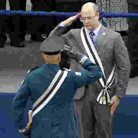 3.jan.2019 - O governador Wilson Witzel em cerimônia de posse do coronel Rogério de Lacerda no cargo de secretário da Polícia Militar - SEVERINO SILVA/AGÊNCIA O DIA/AGÊNCIA O DIA/ESTADÃO CONTEÚDO