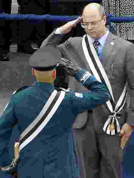 O governador do Rio, Wilson Witzel, em cerimônia da Polícia Militar - SEVERINO SILVA/AGÊNCIA O DIA/AGÊNCIA O DIA/ESTADÃO CONTEÚDO