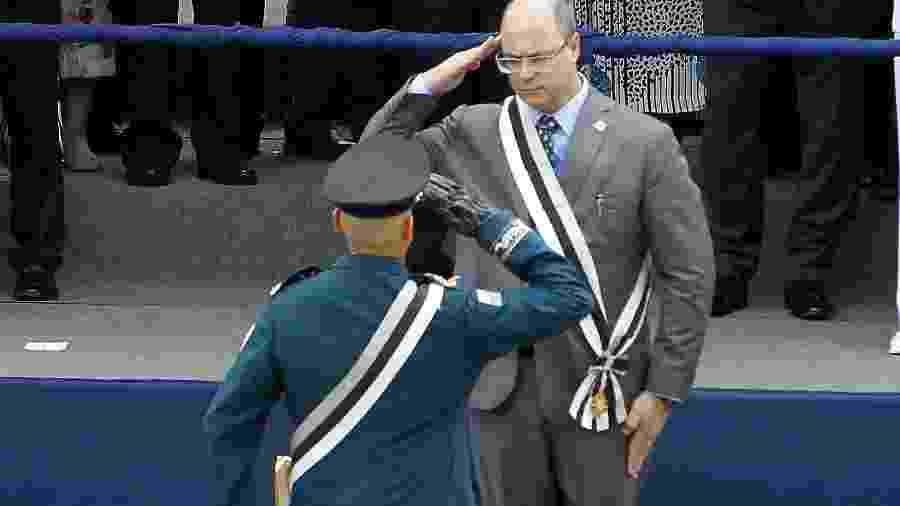 O governador do Rio, Wilson Witzel (PSC), participou da cerimônia de posse do coronel Rogério Figueiredo de Lacerda ao cargo de secretário da PM - SEVERINO SILVA/AGÊNCIA O DIA/AGÊNCIA O DIA/ESTADÃO CONTEÚDO