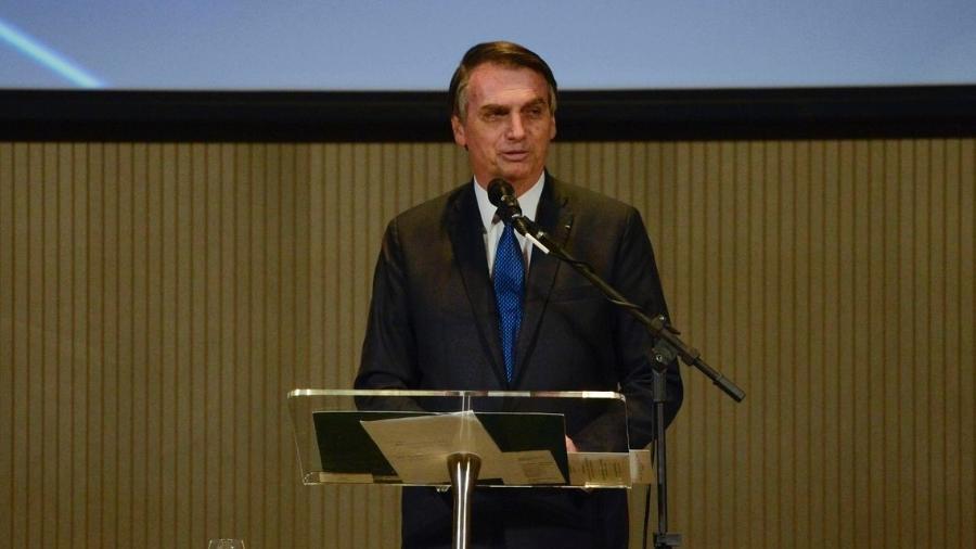 11.abr.2019 - O presidente Jair Bolsonaro almoça com pastores evangélicos no Rio - Tânia Rego/Agência Brasil