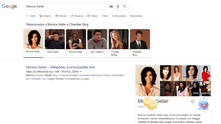 monica geller - reprodução/Google - reprodução/Google