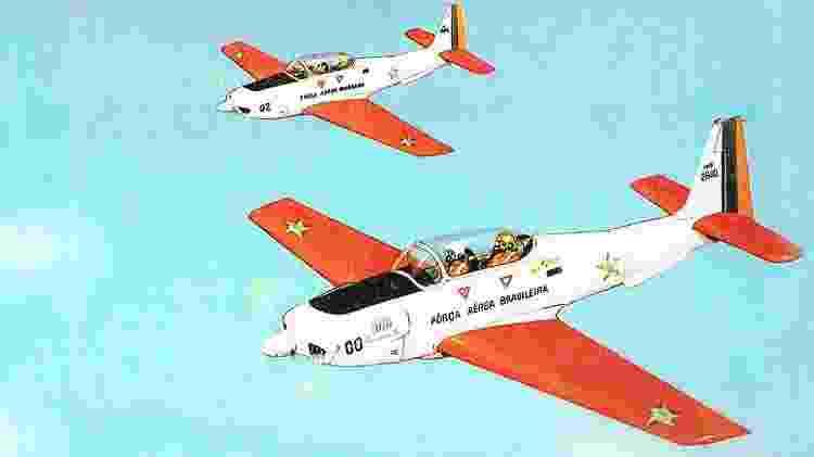 EMB-301 serviria, entre outras funções, para a realização de manobras e treinamento - Revista Flap - Revista Flap