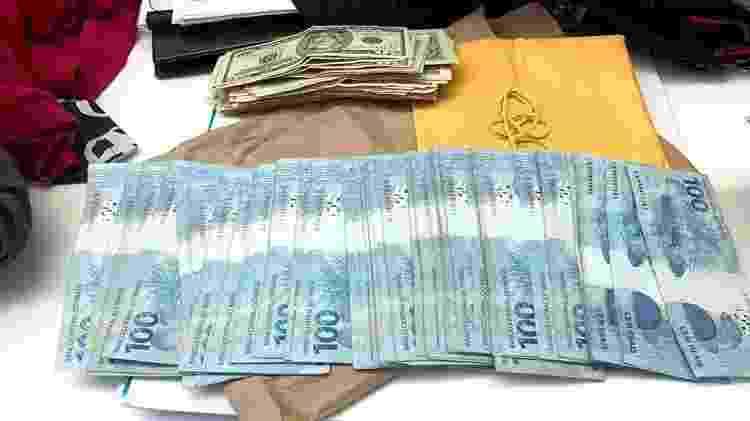 Operação apreende R$ 35 mil em espécie contra supostos fraudadores de licitação - Divulgação/Polícia Civil RJ