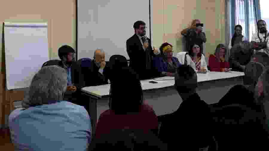 Dimitri Sales, presidente do Condepe, diz que sete mortes em Paraisópolis ocorreram no local - Marcelo Oliveira/UOL