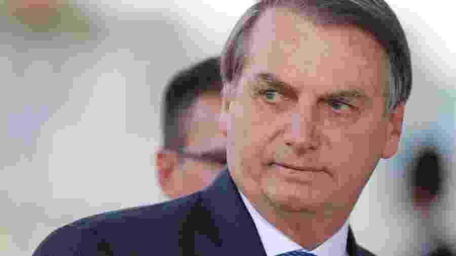 Presidente Jair Bolsonaro deixa o Palácio da Alvorada - Reuters