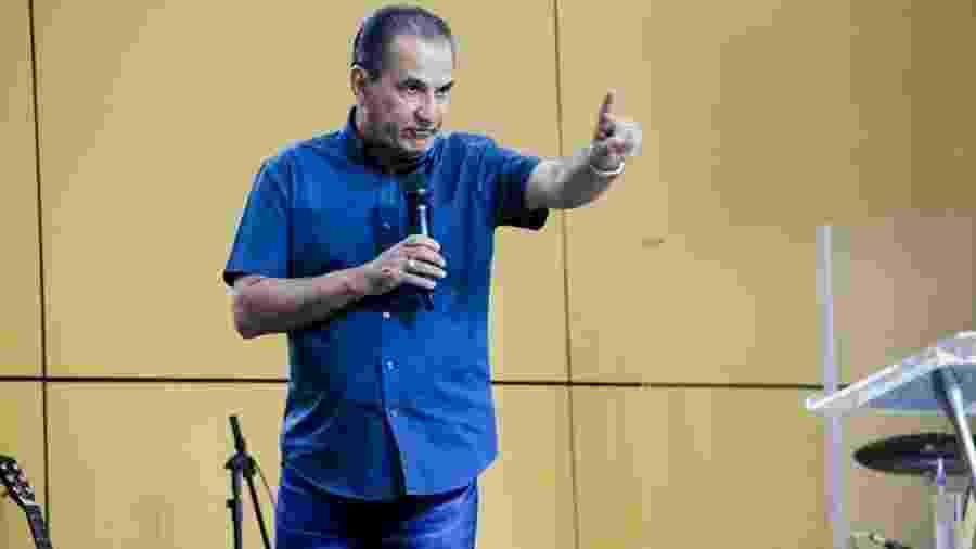 19.mar.2020 - Pastor Silas Malafaia promove culto em igreja de Campo Grande, na zona oeste do Rio - Divulgação