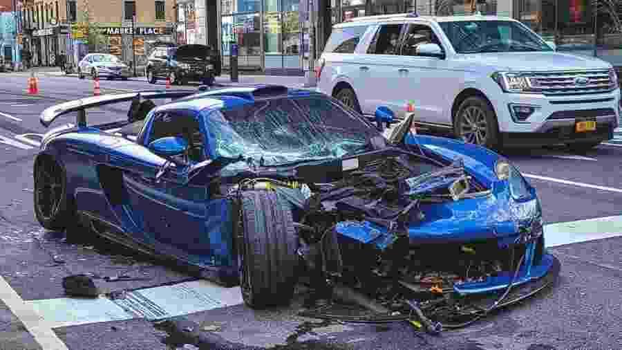 Motorista quebra quarentena e destrói Porsche avaliado em US$750 mil - Reprodução/Instagram @ronniecnyc