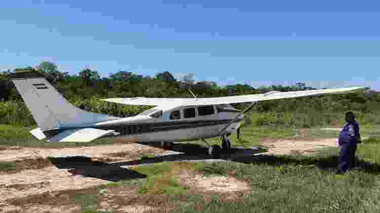10.abr.2020 - Avião utilizado para tráfico internacional de drogas entre Paraguai e Brasil - Divulgação/Polícia Nacional do Paraguai - Divulgação/Polícia Nacional do Paraguai