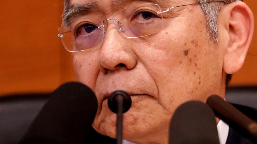 """Haruhiko Kuroda diz que impacto das mudanças climáticas sobre o sistema financeiro pode mudar """"significativamente"""" com o tempo - KIM KYUNG-HOON"""