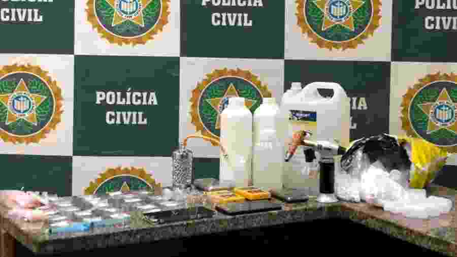 Droga ficou famosa em seriado; dupla foi presa em Copacabana - Polícia Civil do RJ/Divulgação