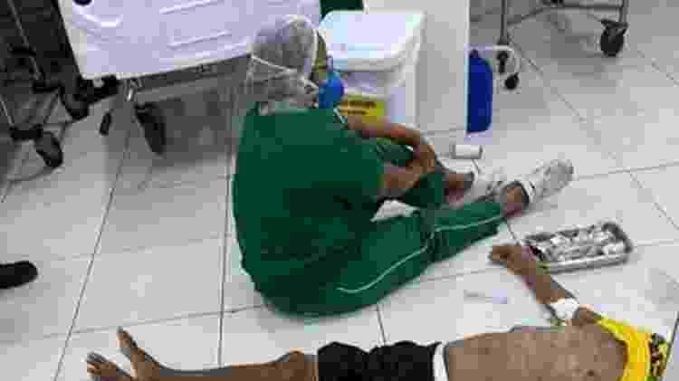Homem foi atendido no chão e não resistiu, em Teresina - Reprodução/Redes Sociais - Reprodução/Redes Sociais