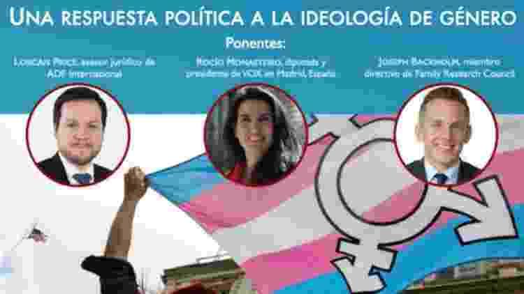 """Card do evento """"Uma resposta política para a ideologia de gênero"""" - Divulgação - Divulgação"""