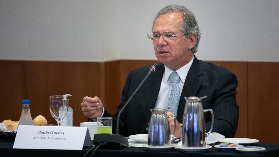 Ministro da Economia, Paulo Guedes, afirmou nesta quarta-feira que é necessário compreensão e ajuda para o governo resolver o problema dos precatórios - Washington Costa/Ministério da Economa