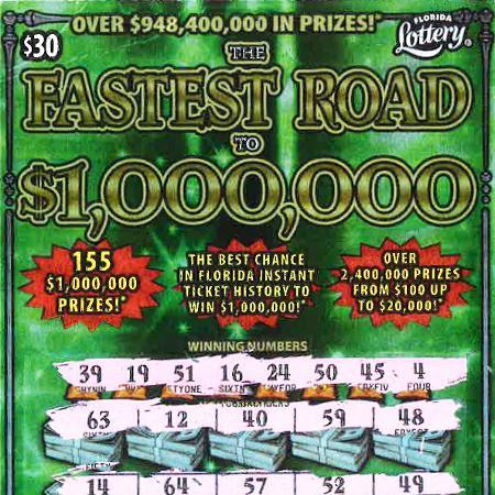 Sem ter o que fazer na cidade, mulher comprou bilhete de raspadinha e ganhou prêmio máximo - Divulgação/ Florida Lottery