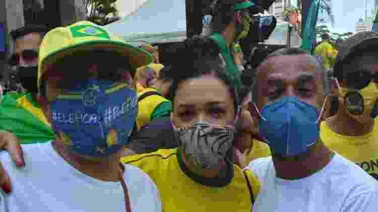 Subtenente Evaldo Batista e Cabo Neusa Brandão na Paulista para ato de 7 de Setembro - Amanda Rossi/UOL - Amanda Rossi/UOL