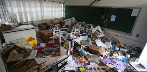"""""""É uma tristeza profunda"""", diz dirigente de Osasco sobre escola depredada - Marcos Bezerra/Futura Press/Estadão Conteúdo"""