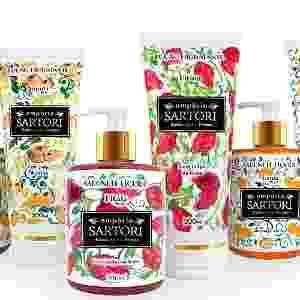 Linha de produtos feitos pela Empório Sartori, fabricante de cosméticos com polpa de frutas raras - Divulgação