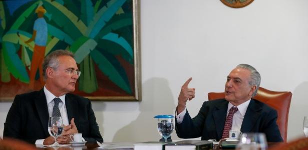 5.jul.2016 - O presidente Michel Temer, participa de audiência com o presidente do Senado, Renan Calheiros (PMDB-AL)