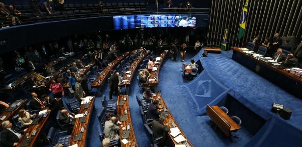 Sessão do Senado Federal em que foram votados os três projetos